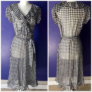 Womens houndstooth dress size 6